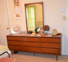 Mid-Century Bassett Bureau & Mirror
