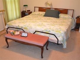 Mid-Century Bassett king size power lift bed