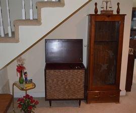 Mid-Century Hi-Fi stereo; Gun Cabinet