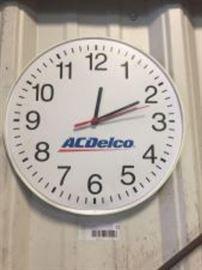 """AC Delco 12"""" shop clock"""