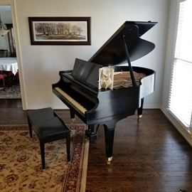 Add a little music, and a lot of style to your home with this stunning baby grand piano by Baldwin! ( This item is available for pre-sale)