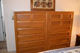 """Thomasville Mid Century Modern Chests. Each one measures 56"""" Tall X 38"""" Wide"""