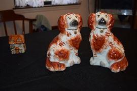 Staffordshire Dogs Pair. Rare