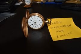 Rockford Gold Filled Hunting Pocket Watch Serial 778964 1908