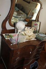 furniture antique dresser and vanity mirror