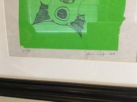 Details on signed print