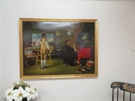 Artist Signed Macavari Listner Oil Painting