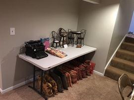 Vintage typewriter (Sold) and doll furniture