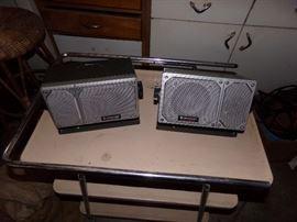 Twin wall mount speakers