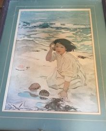 Sound of the Ocean print by artist Jessie Willcox Smith.