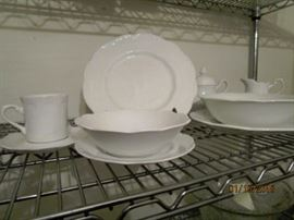 Sterling Colonial English Ironstone dishes.  Service for 12 + serving pieces