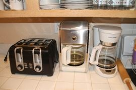 Toaster, coffee makers