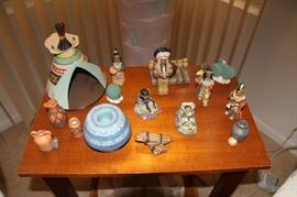 End table, american Indian collectibles