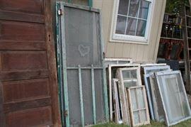 Old doors, screen doors and windows