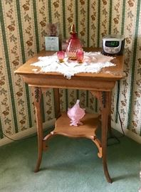 Antique Oak Lamp Table