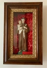 Antique Shadow Box of Saint