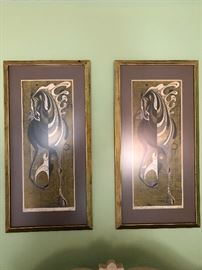 Tadashi Nakayama framed woodblock prints