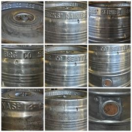 Sicks' Rainier Brewing Company keg dated 2-65