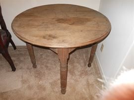 Primitive round table