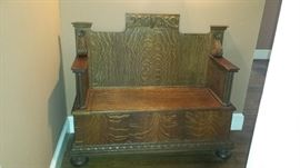 Antique Bench Solid Wood