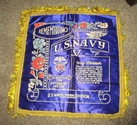 US Navy memorial pillow top
