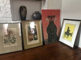 Vintage mid century art from prominent NY mid century art dealer in 1960s