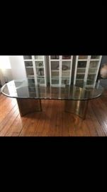 RARE mastercraft brass dining table (or use as a desk)