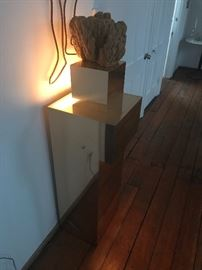 RARE PAUL EVANS style brass light up table