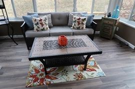 Newly purchased patio furniture - Couch, 2 Swivel Chairs and Coffee Table