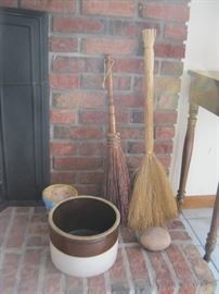 Crock and Brooms