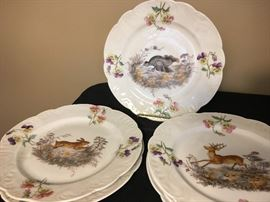 Antique Animal Motif Desert Plates