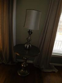 Silvertone  lamp    and  table   The  lamp  is  one  of  two