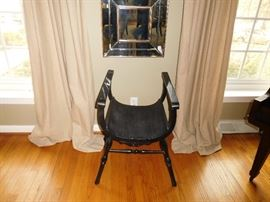 Chair      Two   mirrors   above  chair