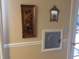 Picture & cast iron small mirror