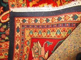 Verso of Hand Knotted Rug