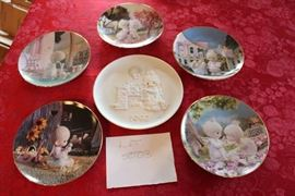 Lot #3 Precious Moments Decorative Plates; lot includes: Good Friends are Forever; I Believe in Miracles; But the Greatest of these is Love; Make a Joyful Noise; Love One Another; God Loveth a Cheerful Giver.