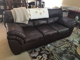 Faux Leather 3-Seater Sofa