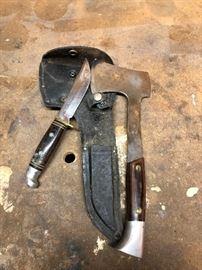 Knife and Hatchet set