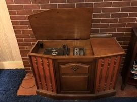 "Vintage ""The Voice Of Music"" Record Player"