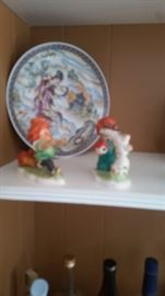Collectible figurines a me plate with Chinese design