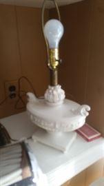 Lovely antique white porcelain lamp