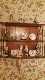 3 tier shelf and collectibles