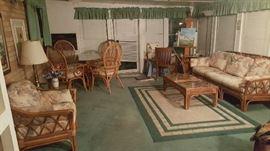Vintage rattan furniture