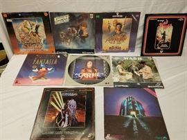 9 Lazer Disc's Fantazia, Star Wars, Blazing Saddle ...