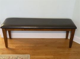 Leather seat bench