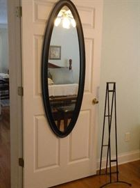 Mirror- hangs or attaches to stand