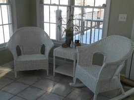 Wicker Set- Pier 1  (comes with leg attachments to make the 2nd chair a rocker as well)