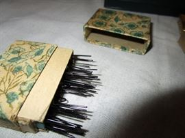 Antique Bobby Pin Box
