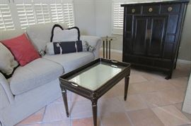 Heirloom Loveseat & Asian Inspired Cabinet Oh yes 1/2 price Today Saturday!
