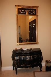 Large Mirror and Bombay Chest